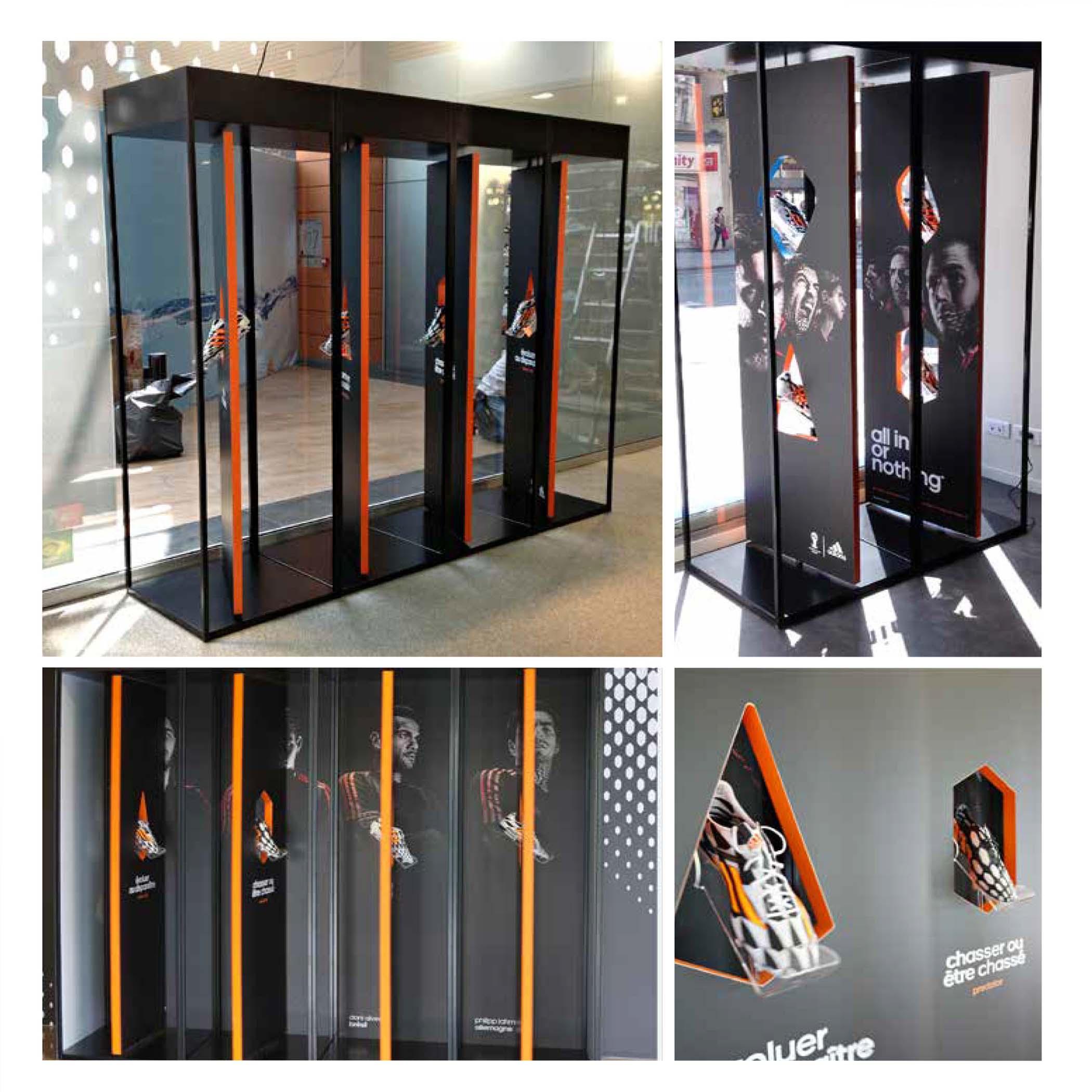 vitrine rotative adidas